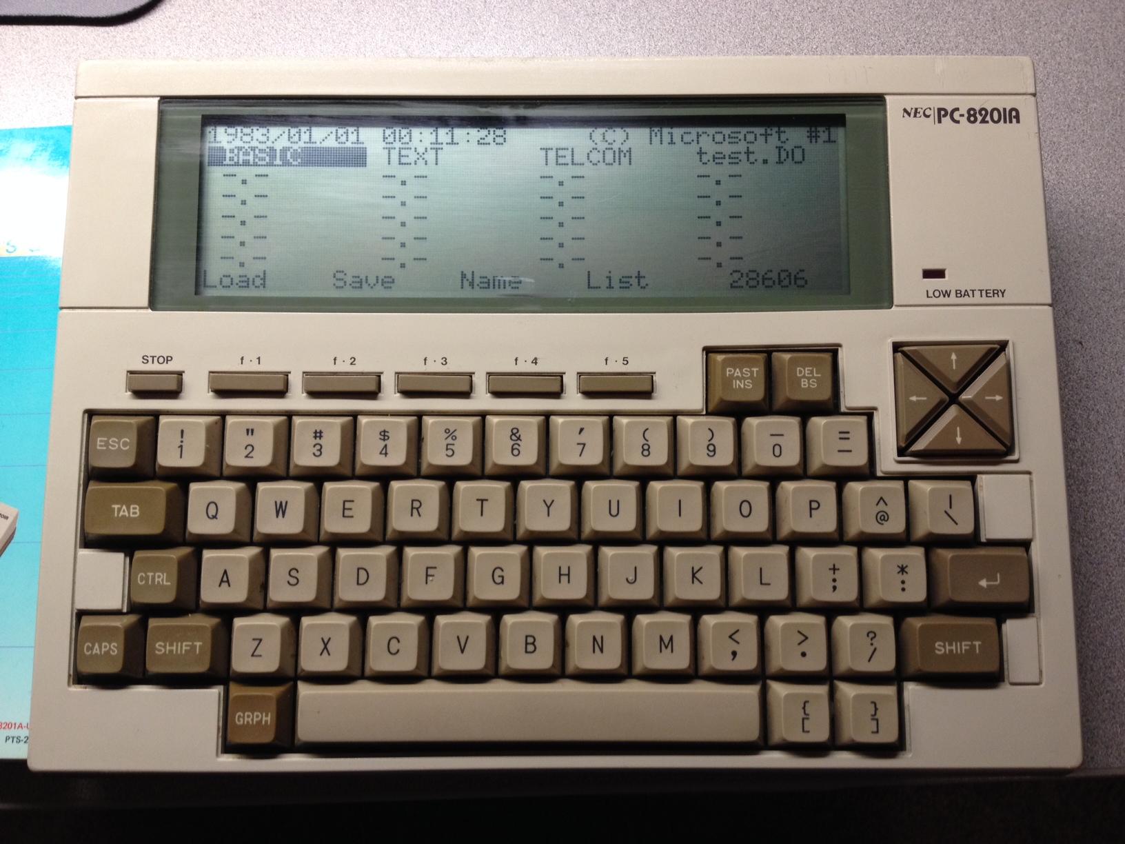 NEC PC-8201A