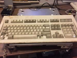 Model M keyboard was pretty rough.